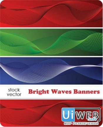 Vectors - Bright Waves Banners