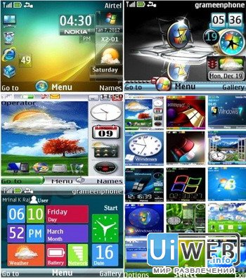 Темы для Nokia s40 - Стиль Windows ( 320x240 )